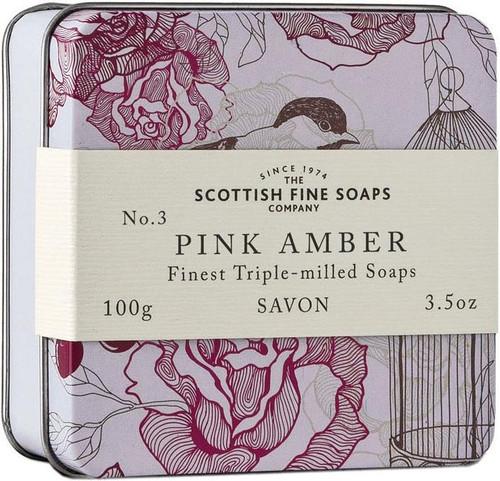 Scottish Fine Soaps Vintage Pink Amber Soap Tin