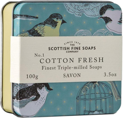 Scottish Fine Soaps Vintage Cotton Fresh Soap Tin