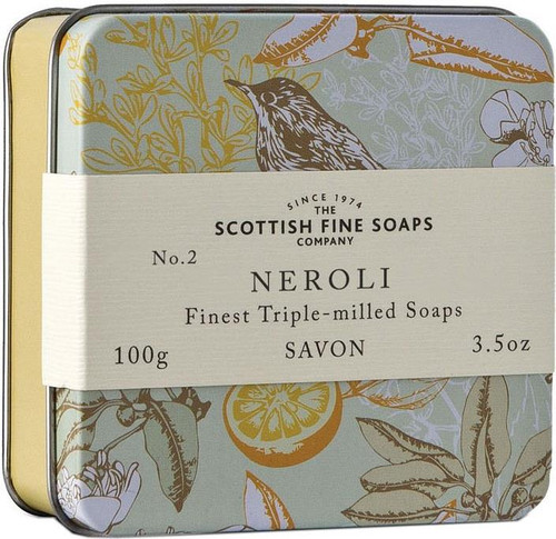Scottish Fine Soaps Vintage Neroli Soap Tin