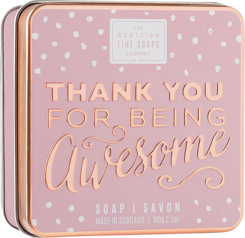 Scottish Fine Soaps Thank You for Being Awesome Soap in a Tin