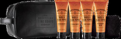 Scottish Fine Soaps Men's Grooming Travel Bag - 4 x 75ml