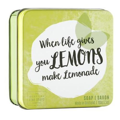 Scottish Fine Soaps When Life Gives You Lemons Soap Tin