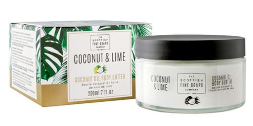 Scottish Fine Soaps Coconut & Lime Coconut Oil Body Butter