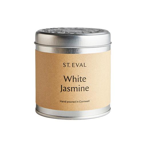 St Eval Candle White Jasmine Tin Candle