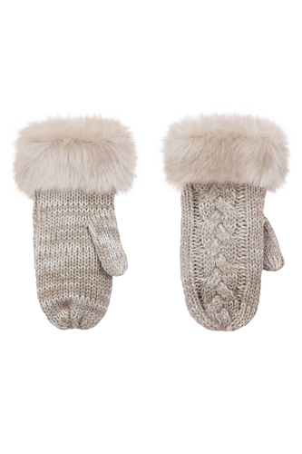 Ruby + Ed Oyster Knit Mittens