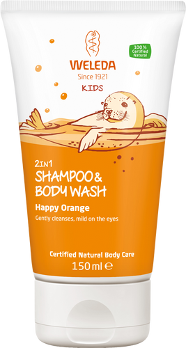 Weleda Kids 2in1 Shampoo & Body Wash - Happy Orange