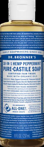 Dr Bronner 18-in-1 Hemp Peppermint Pure-Castile Soap - 237ml
