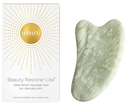 HAYO'U Beauty Restorer Lite - Jade Facial Massage Tool for Delicate Skin