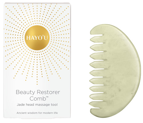 HAYO'U Beauty Restorer Comb - Jade Head Massage Tool