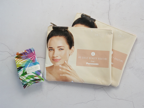 Panasonic Bamboo Cloth & Cosmetic Pouch > Free Gift