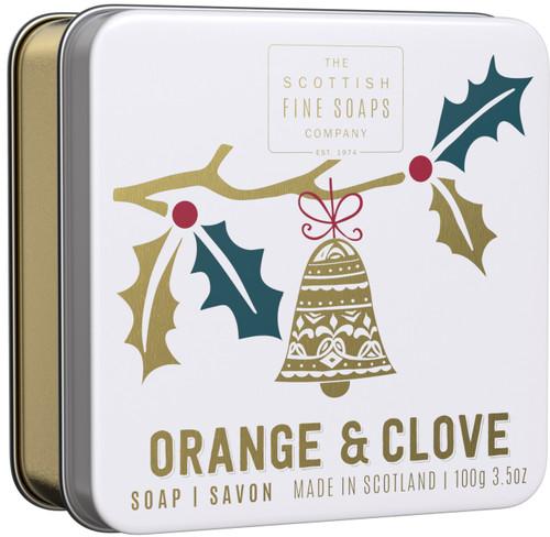 Scottish Fine Soaps Orange & Clove Soap In A Tin