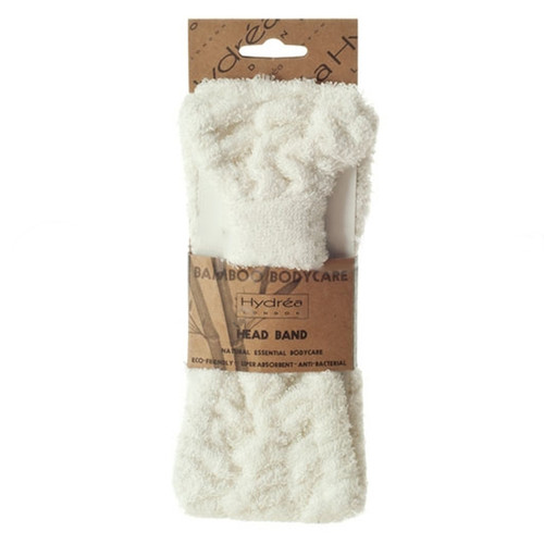 Natural Bath Sponge Hair Drying Towel Wrap and Head Band Duo Set
