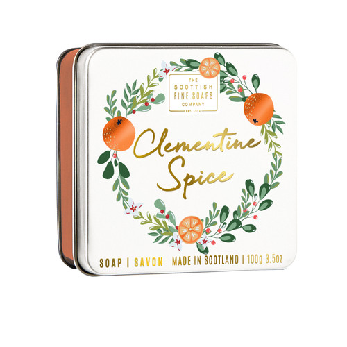 Scottish Fine Soaps Clementine Soap in a Tin