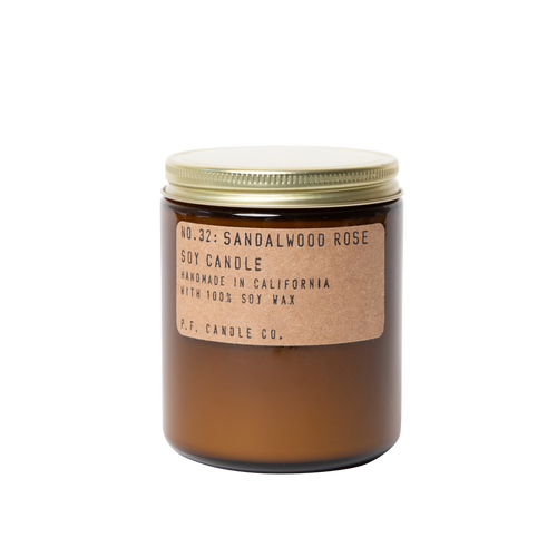 P.F. Candle Co. No. 32 Sandalwood Rose Standard Soy Jar Candle