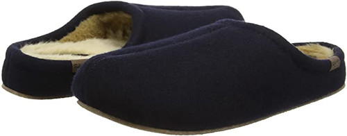Ruby + Ed Men's Navy Wool Hausschuh
