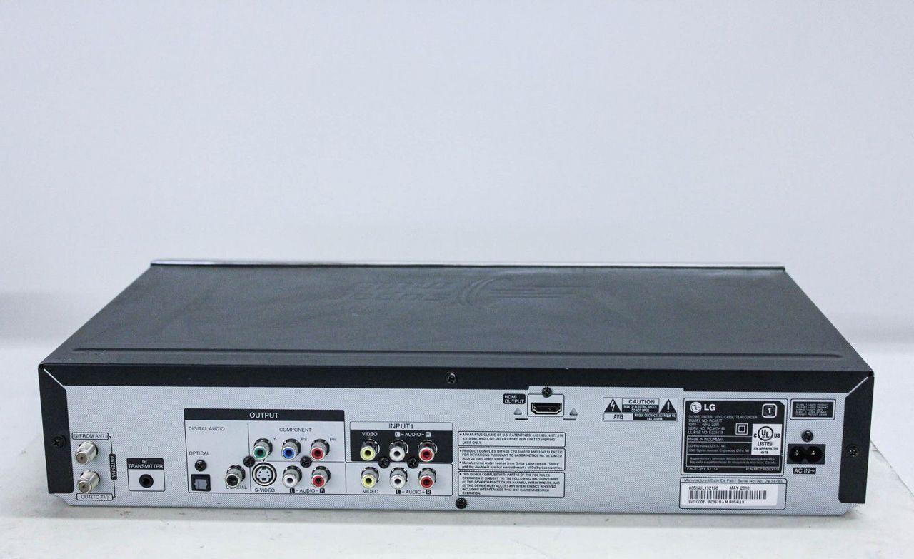 LG RC897T Recorder/VCR Recorder digital dvd vhs combo