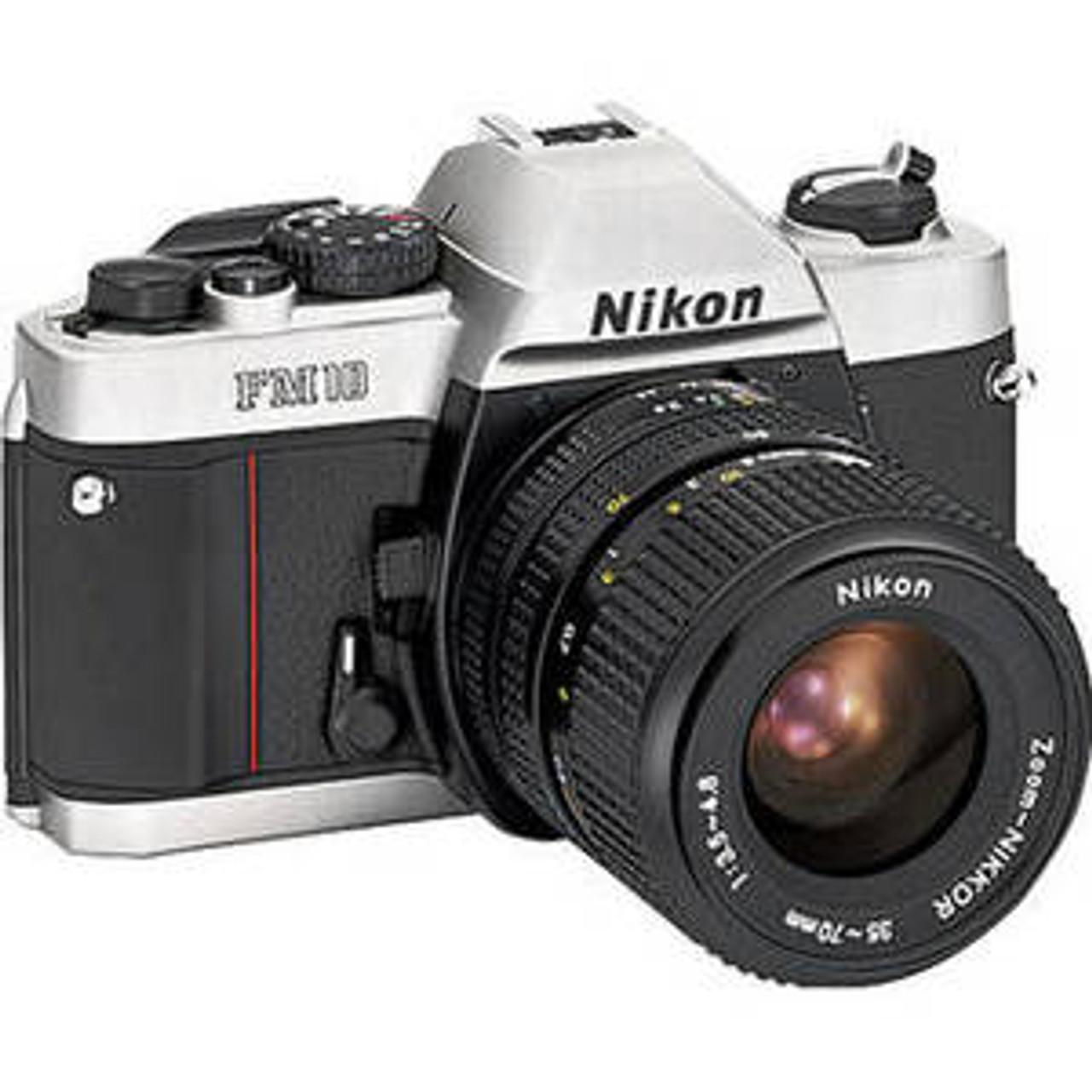 Nikon Fm10 35mm Slr Film Camera With 35 70mm Lens