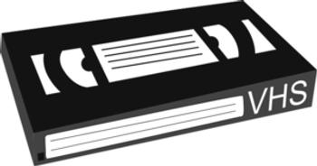 VCR T-120 VHS Cassette Standard Grade Blank Tape