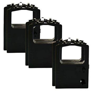 Okidata Black Nylon Ribbon for Microline 320/321 Printers (Set of 3) -5/6-Inch x 2 Yards