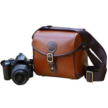 Leather Camera Case for DSLR Style Camera (waterproof)