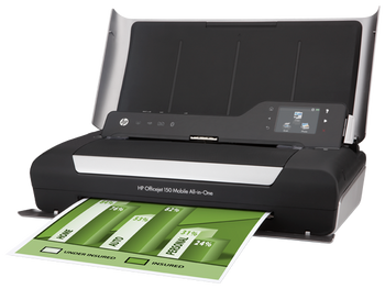 Hp Officejet 150 Mobile Wireless Color Printer with Scanner & Copier