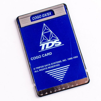 TDS COGO Survey Card and Overlay for HP 48GX Calculators