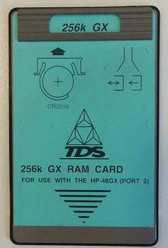 256K RAM Card for HP 48GX Calculators