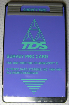 TDS Surveying Pro Card for use with HP 48GX Calculator