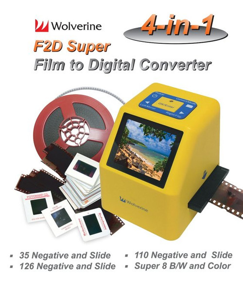 Wolverine 20MP 4-In-1 Film to Digital Converter