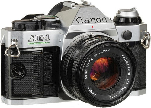 Canon AE-1 program 35mm film SLR Manual Focus Camera w/ FD 50mm lens