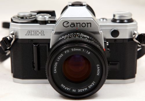 Canon AE-1 35mm film Camera SLR Manual Focus w/ FD 50mm lens