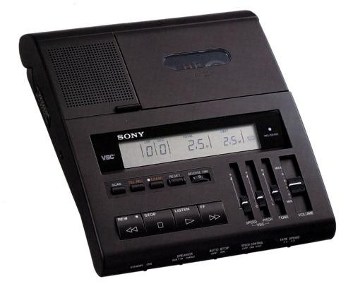 Sony BM-89 Standard Cassette Transcriber /Foot Pedal and Headset