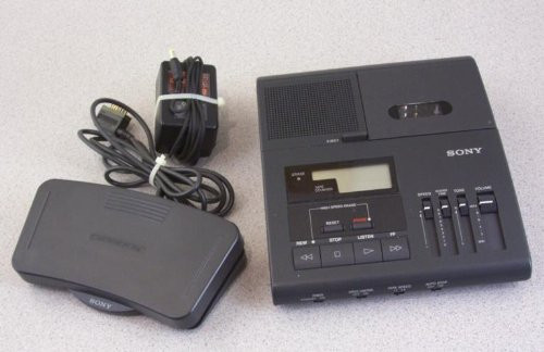 Sony Bm-840 Microcassette Transcription Transcriber Machine 2-speeds
