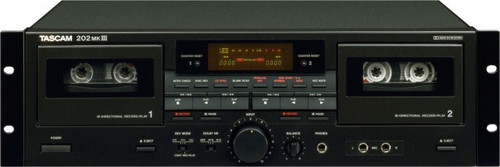 Tascam 202 MKIII Professional Dual Cassette Deck