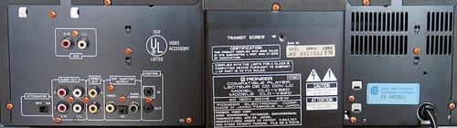 Pioneer CLD-V820 Laser Karaoke CD CDV LD Multi Laser Disc Player