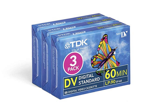 3-Pack TDK Mini DV 60 Minute DVM DVC Digital Video Blank Cassette - New