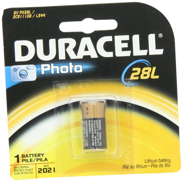 Duracell Photo 28L (Used in Canon FD Cameras)