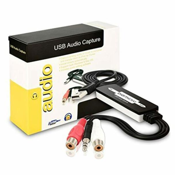 DIGITNOW USB Audio Capture Cassette Tapes to Digital Kit