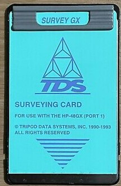 TDS Surveying GX Card for use with HP 48GX Calculator