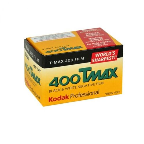 Kodak T-Max 400 TMY 135-24 Exposure Black & White 35mm Film