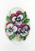 Pansies Cross Stitch Card kit By Orchidea
