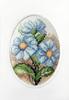 Blue Flowers Cross Stitch Card Kit by Orchidea