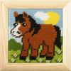 My First Embroidery Needlepoint kit - Pony By Orchidea