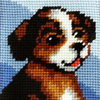 My First Embroidery Needlepoint Kit Brown Puppy By Orchidea