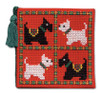 Scotties & Westies Needle Case Cross Stitch Kit by Textile Heritage
