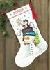 Jolly Trio Cross Stitch Stocking Kit by Dimensions