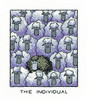 """""""The Individual"""" Sheep Cross Stitch Kit By Heritage"""