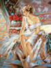 Woman Waking Up  Tapestry Canvas By Collection D'art