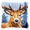 Latch Hook Kit: Cushion: Deer By Vervaco