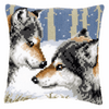 Cross Stitch Kit: Cushion: Wolves By Vervaco